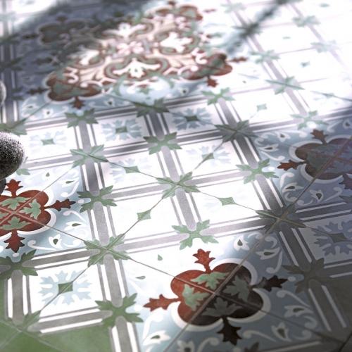 Zementfliesen Boden
