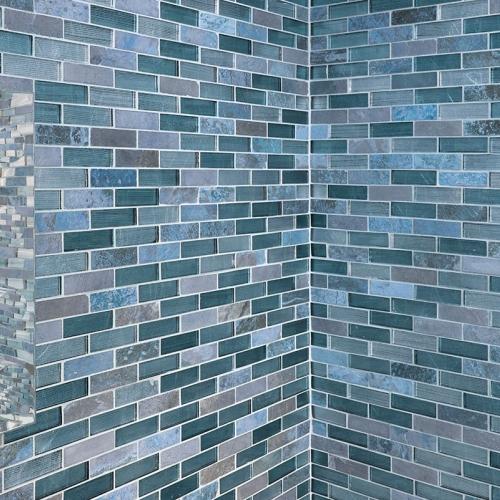 Glasmosaikarbeiten in der Dusche